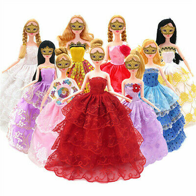 "10Pcs Fashion Handmade Party Dresses Clothes For 11"" Doll Style Random Gifts"
