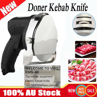 Commercial Kebab Knife Electric Meat Carver Shawarma Slicer New Cutter Machine