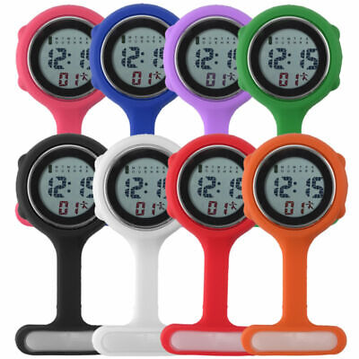 Colorful Multi functions Digital Silicone Rubber Nurse Watch Fob Watch Boxed LCD