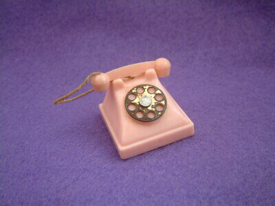 Vintage 60s PINK TELEPHONE for fashion doll suit Sindy Tammy Tressy Barbie