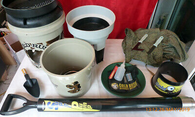 Gold Detecting Panning Prospecting Nugget Bucket FULL Kit + Gravel Pump + Extras