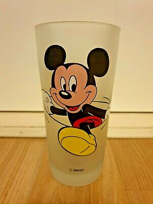 RARE  Monkeys of Melbourne MICKEY MOUSE Large Disney Drinking Frost Glass