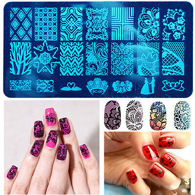 10 Unique Design DIY Nail Art Image Stamp Stamping Plates Manicure Template Tool