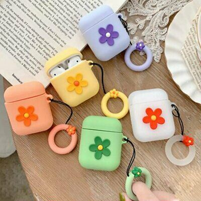 Cute 3D Cartoon Flower Silicone Case Protective Cover For Apple AirPods &H