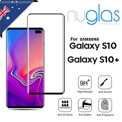 For Samsung Galaxy S10 S10 Plus NUGLAS 3D Full Tempered Glass Screen Protector