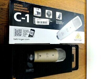 BEHRINGER C-1 Studio Condenser Microphone XLR Connector Low Noise NEW