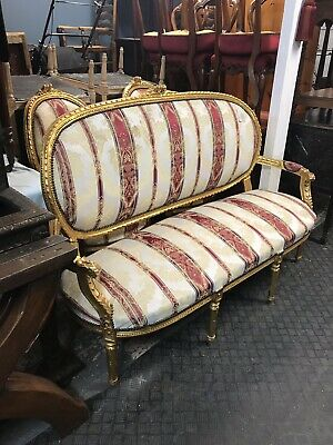 Antique French Louis Style Gilded Sofa Suite Sn-458a