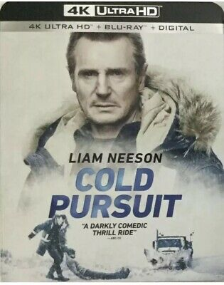 Cold Pursuit (4K Ultra HD Blu-ray, 2-Disc, 2019) Liam Neeson FREE SHIPPING