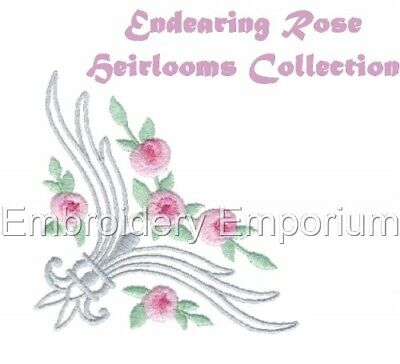 Endearing Rose Heirloom Collection - Machine Embroidery Designs On Cd Or Usb