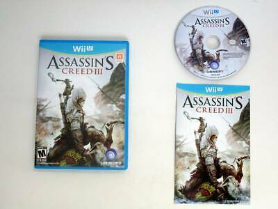 Assassin's Creed III game for Nintendo Wii U -Complete