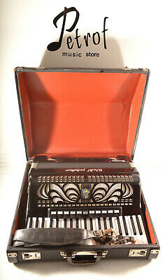 GERMAN TOP ACCORDION WELTMEISTER CAPRICE 120 bass,16 reg.& HARD CASE~Fisarmonica