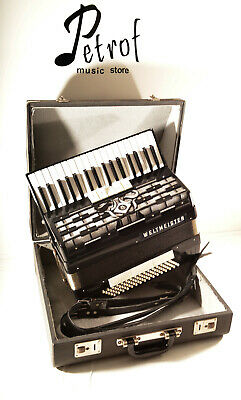 GERMAN RARE TOP ACCORDION WELTMEISTER CORDAL 80 bass, 8sw.+HARD CASE~Fisarmonica