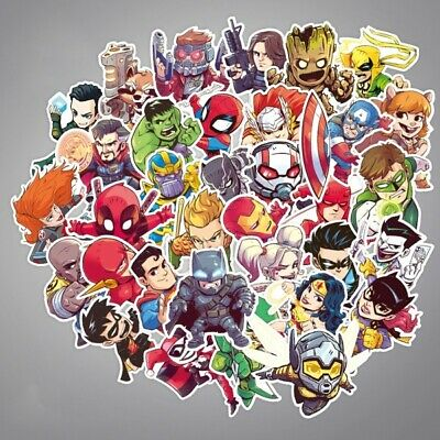 Stickerbomb Sticker Super Hero Aufkleber Fan Art Marvel DC Vinyl KFZ Auto Laptop
