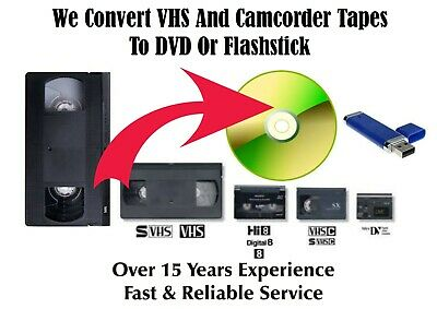VHS Tapes To DVD Transfer Service To DVD or USB Flashstick