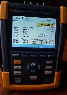 Fluke 435 - II, 3 Phase Power Quality and Energy Analyzer. USED!