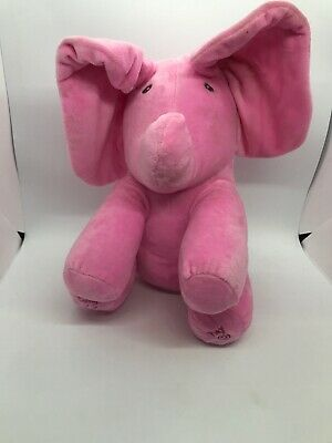Peek-A-Boo Elephant Baby Plush Toy Two Different Play Modes Ears Flop Up & Down