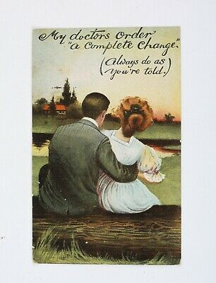 Doctor's Orders  Colorful Romance Love Vintage Postcard 1908