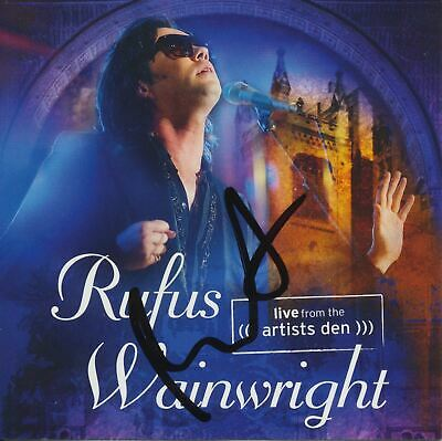 Rufus Wainwright Signed Live From The Artists Den Cd Cover