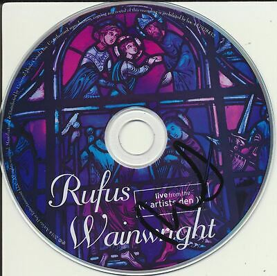 Rufus Wainwright Signed Live From The Artists Den Cd Disk