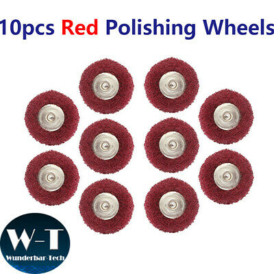 10Pcs Abrasive Wheel Buffing Polishing Wheel Set For Dremel Rotary Tool