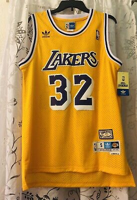 Magic Johnson #32 Los Angeles Lakers Soul Swingman Jersey Small Throwback NWT