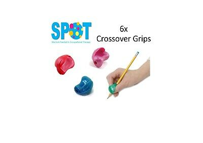 6x Crossover Pencil Grips *HAND WRITING school OT special needs THERAPY*