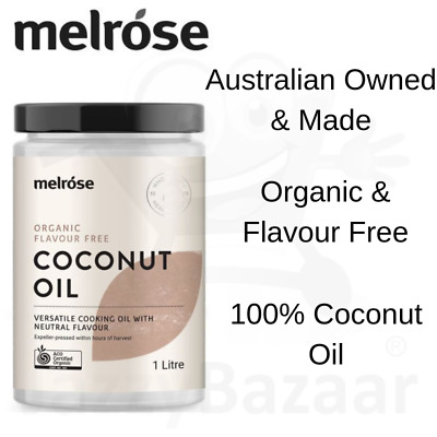 Melrose Organic Flavour Free Coconut Oil 1 Litre Refined Cooking Pure Virgin Oil
