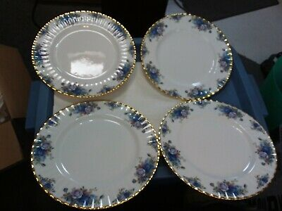 4 Plates - Royal Albert  - Moonlight Rose - 10 1/2 Inches