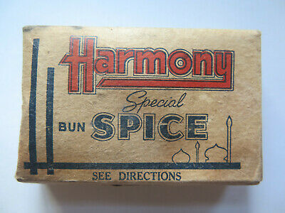 HARMONY PRODUCTS SPECIAL BUN SPICE ADELAIDE SOUTH AUSTRALIA c1930s FULL PACKET