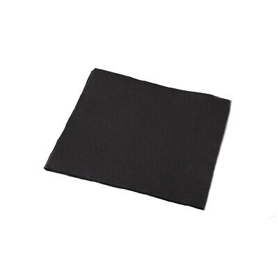 1000x Dinner Napkins Charcoal Black Quilted Quater Fold Disposable Serviettes