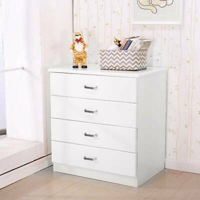 Riano Chest Of Drawers Pine 4 Drawer Metal Handles Runners Bedroom Furniture UK