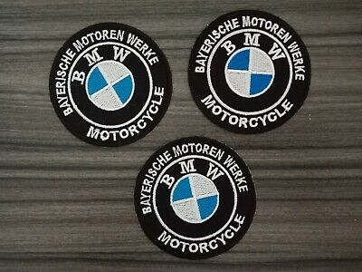 3pcs BMW Motorcycles Patches Car Racing MOTORSPORTS Embrodered Iron or Sewn on