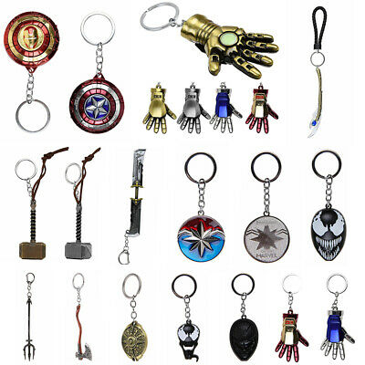 Marvel Avengers Thor's Hammer Metal Keyring Keychain Key Chain Punk Battle Axe