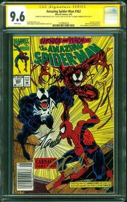 Amazing Spider Man 362 CGC 3XSS 9.6 Stan Lee Bagley +1 2nd Carnage Venom 1992