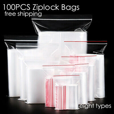 Mini Zipper PE Pouch Packaging Ziplock Bag Plastic Poly Clear Jewelry Zip Bags