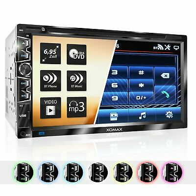 Autoradio mit DVD Cd Usb Microsd Bluetooth 6,95Zoll kapacitivem Touchscreen 2DIN