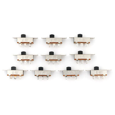 10Pcs 2 Position DPDT 2P2T Panel Mount Vertical Slide Switch 3A 125V 6A 250V RD