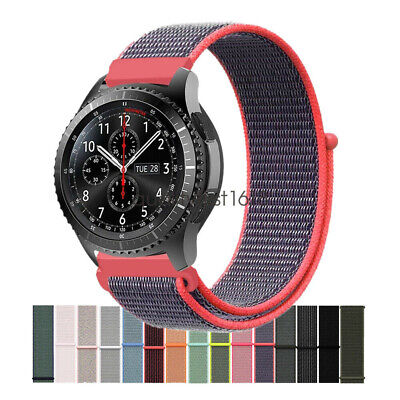 Cinturino Woven Nylon Loop Watch Band Strap per Samsung Gear S3 Classic Frontier