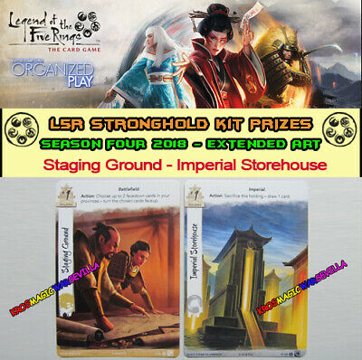 LEGEND OF THE FIVE RINGS L5R LCG - Staging Ground - Promo Stronghold Kit 4 2018