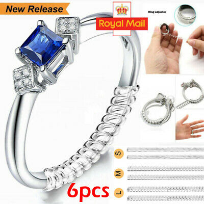 Ring Adjuster Invisible Size Reducer Jewelry Guard Loose Ring Space Fitter 6Pcs