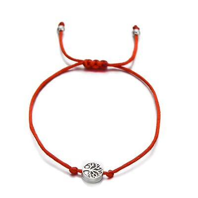 Bracelet Red Cord Friendship Tree of Life ADJUSTABLE LENGTH with GIFT BAG