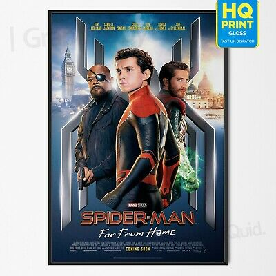 Spiderman Far From Home Tom Holland Movie Poster Final Art Print | A4 A3 A2 A1 |