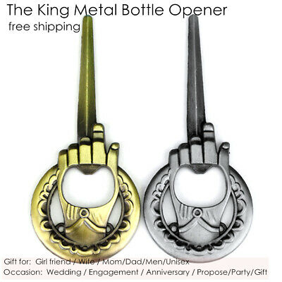 1pcs Metal Outdoor Concealed Poker Playing Throwing Toy Cool Bottle Opener
