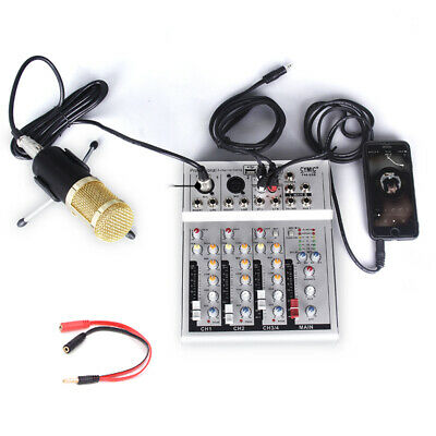 4Channel Digtal Mic Line Audio Mixing Mixer Console Bluetooth Amplifier USB V1B0