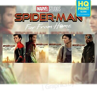 Spiderman Far From Home Character Print Poster Marvel Movie 2019 | A4 A3 A2 A1 |