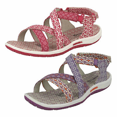 e32ccd0038de3 Jazmin Ditto Girls Merrell Open Toe Strappy Hook & Loop Casual Summer  Sandals