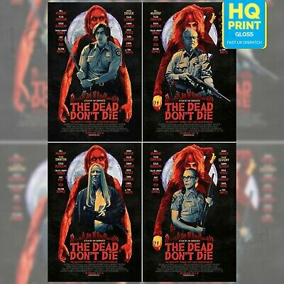 The Dead Don't Die Jim Jarmusch Movie 2019 Character Print Posters | A4 A3 A2 A1