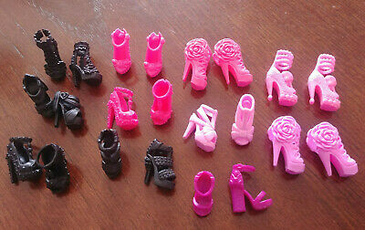 Barbie Doll - Pretty Shoes - 11 Pairs - Pink & Black - Darling