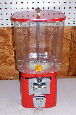 VINTAGE .25 CENT Gumball Candy Store Vending Machine Old ...