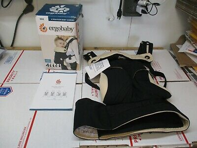 Ergobaby Four Position Baby Carrier Baby To Toddler Bc360Blkcam1Nl New Other